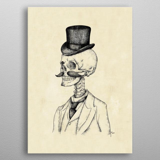 Old Gentleman metal poster