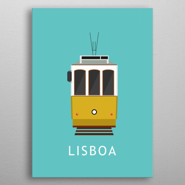 The Lisbon tramway network (Portuguese: Rede de eléctricos de Lisboa) serves the municipality of Lisbon, capital city of Portugal. In operation since 1873, it presently comprises five urban lines. Lisboa,Portugal metal poster