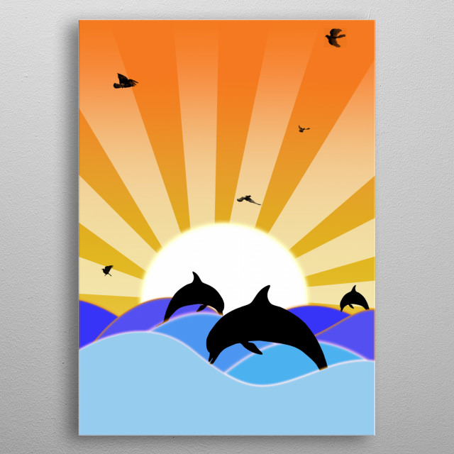 First Displate design. The design is called Sunseas and I hope people enjoy it.  metal poster