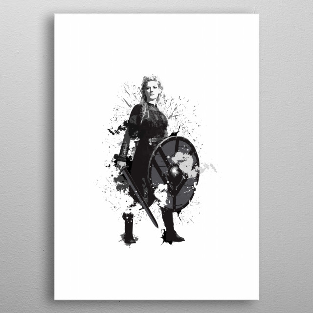 Lagertha from Vikings metal poster
