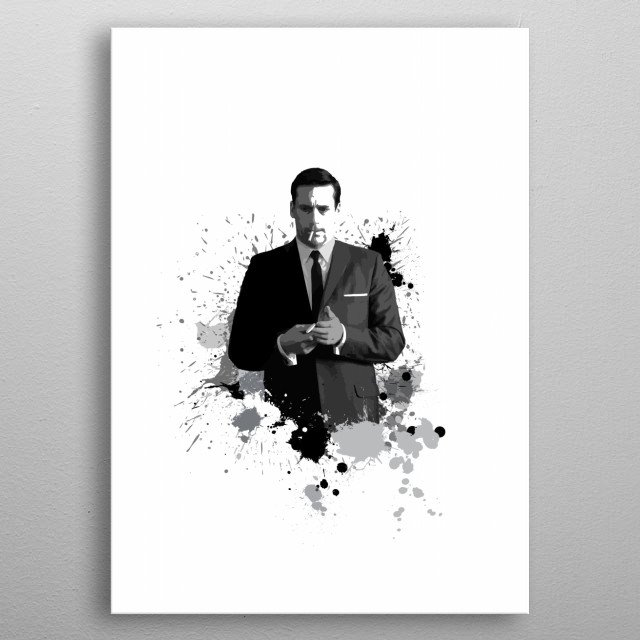 Don Draper from Mad Men metal poster