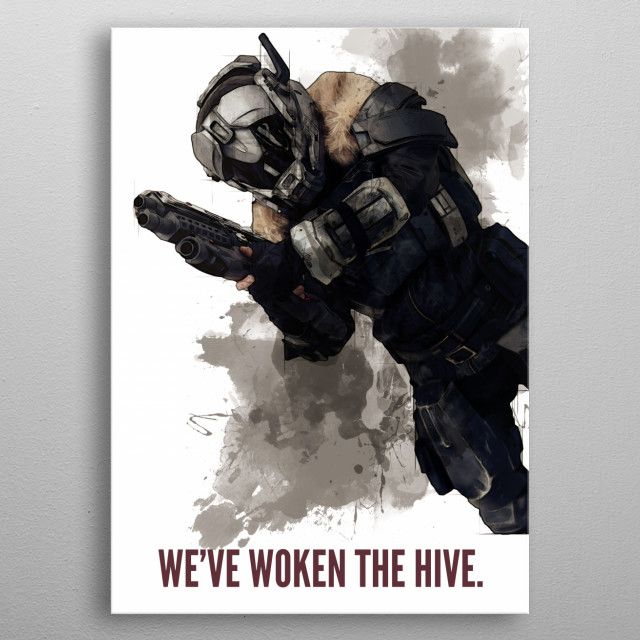 We've woken the hive.... metal poster