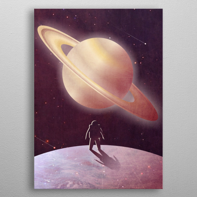 A View From Enceladus metal poster