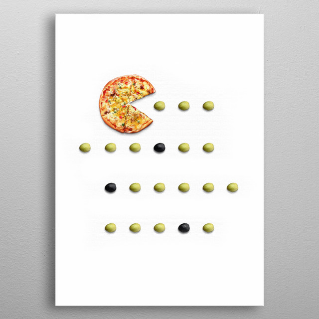 PacPizza metal poster