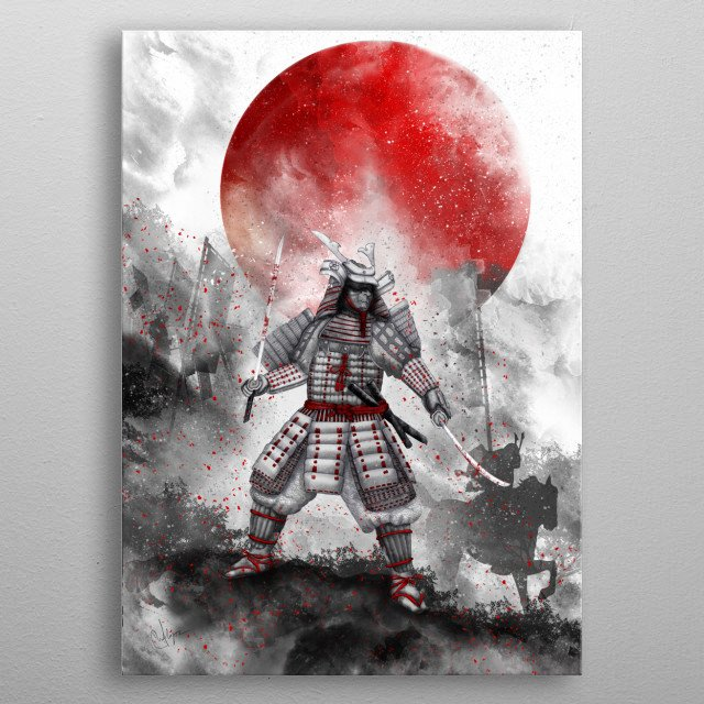Banzai [ The warrior on the hill] II metal poster