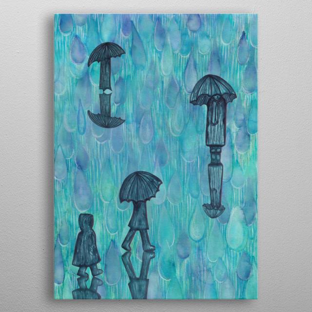 Rainy Day metal poster