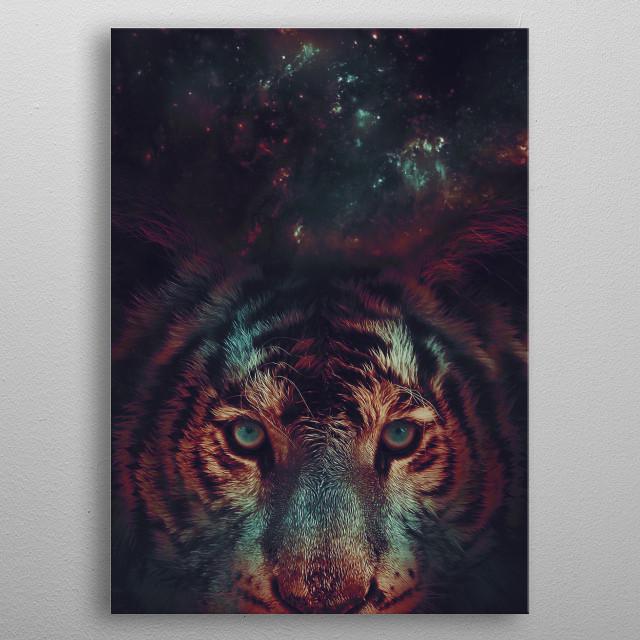 Galaxy Tiger metal poster
