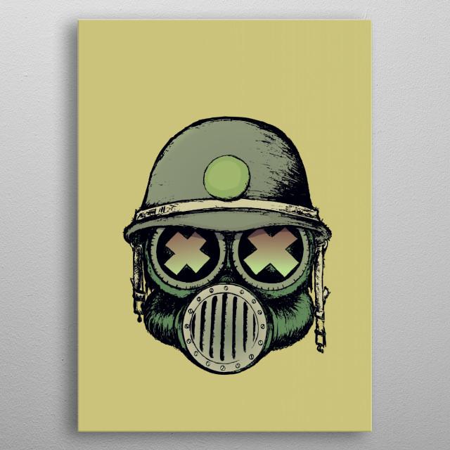 War Skull metal poster