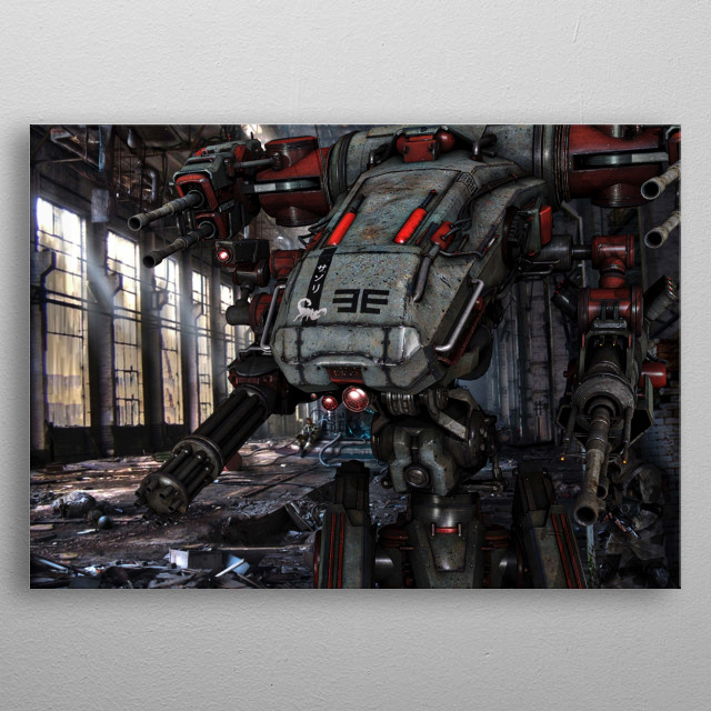 Come out come out where ever you are.  a bit of scifi inspired 3d art metal poster