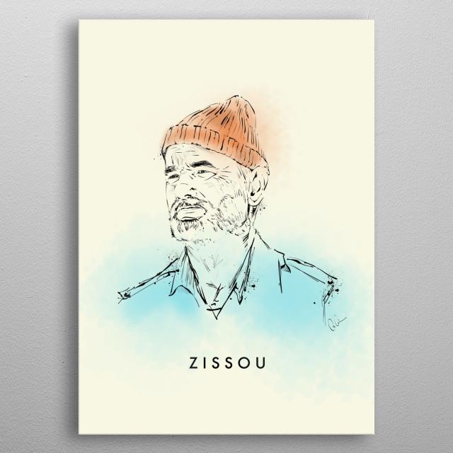 Zissou metal poster