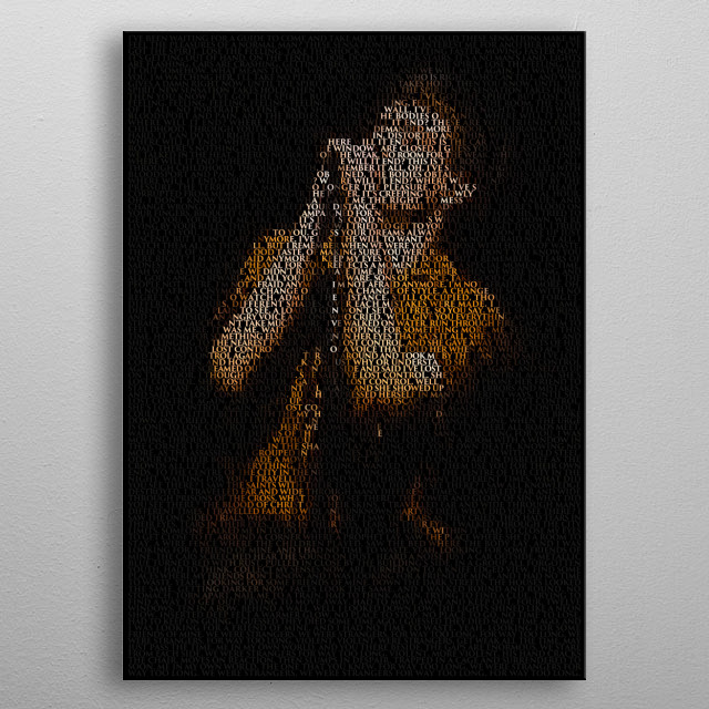 Unknown Pleasures. A typographic portrait of Ian Curtis created from the lyrics of Joy Division's Unknown Pleasures album. In Trajan. metal poster
