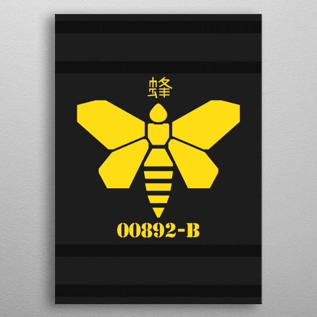 Breaking Bad Methylamine Bee (Black) metal poster