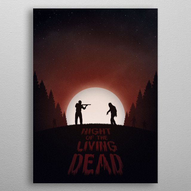 Night of the Living Dead (Red Version) metal poster