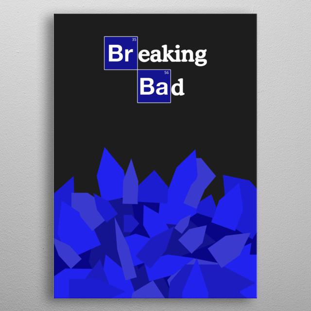 Breaking Bad Blue Crystal metal poster
