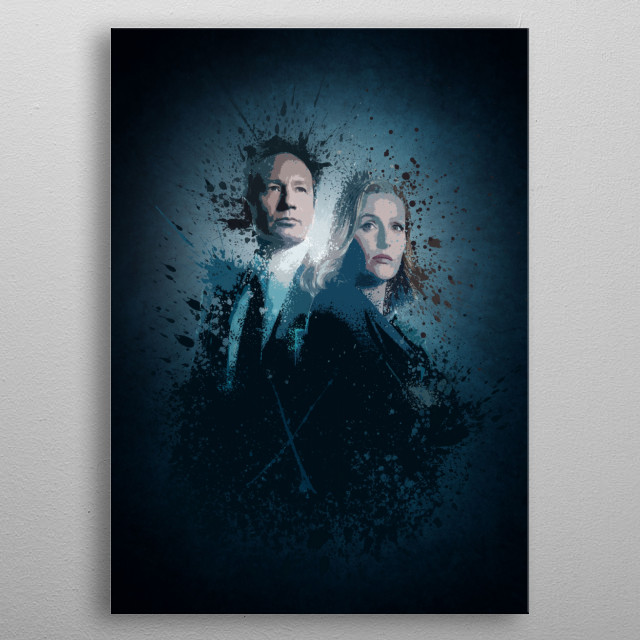 X-Files Splatter effect artwork inspired by the new The X-Files series. metal poster