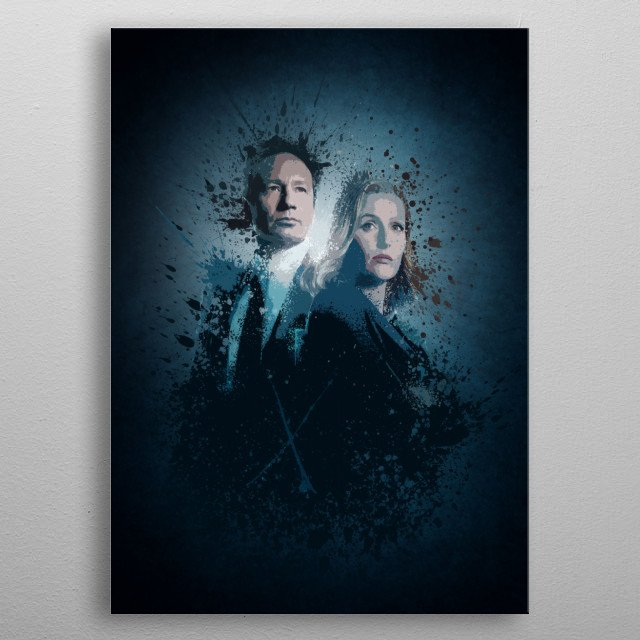 """""""X-Files"""" Splatter effect artwork inspired by the new The X-Files series. metal poster"""