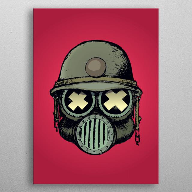 War skull v2 metal poster