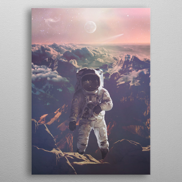 Planet Earth metal poster