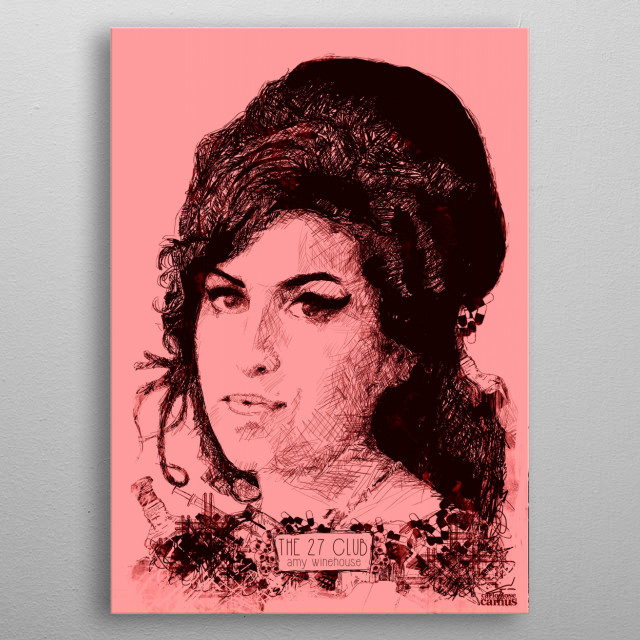 The 27 Club - Amy Winehouse  metal poster