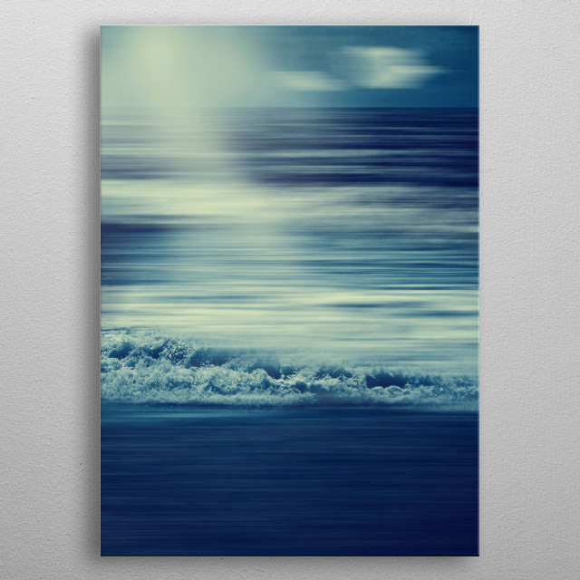 Abstract seascape  metal poster