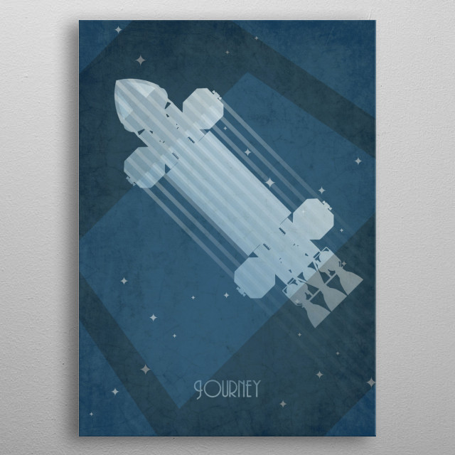 Space1999 Eagle inspired art deco poster metal poster