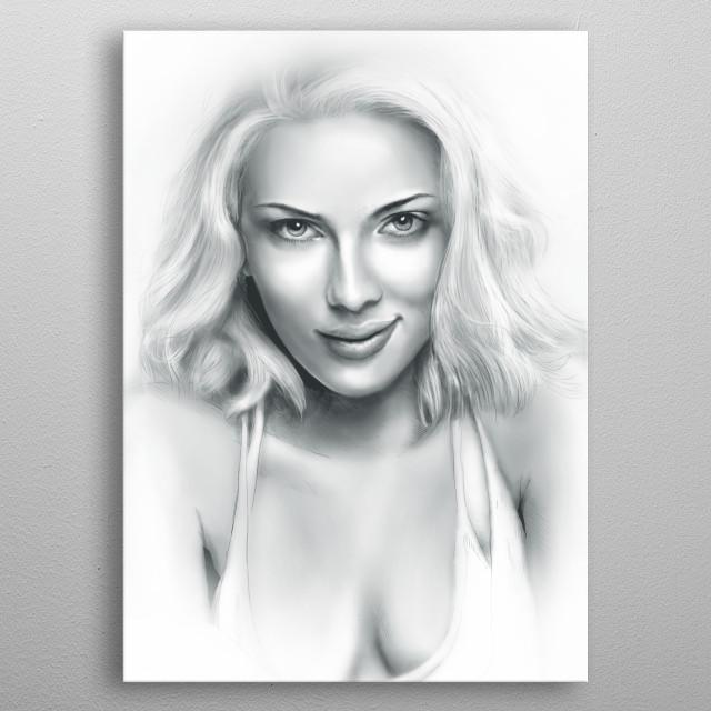 Scarlett Johansson metal poster