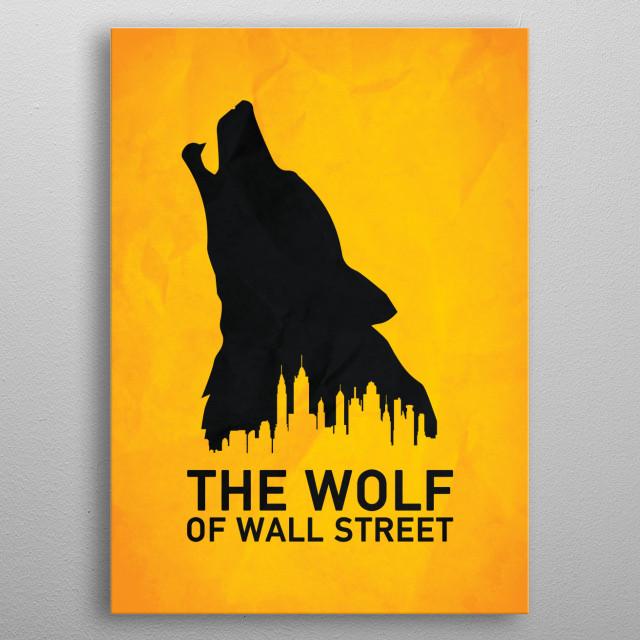 Wolf metal poster