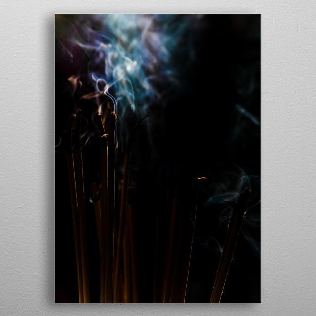 Incense sticks metal poster