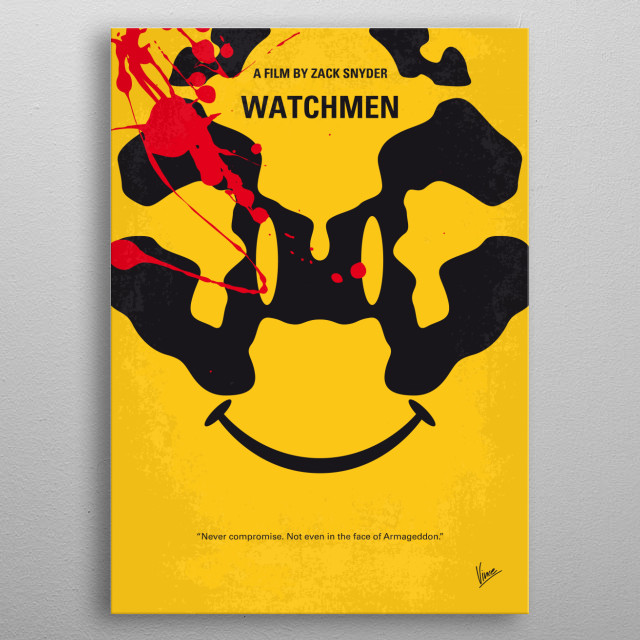 No599 My watchmen minimal movie poster  In an alternate... metal poster