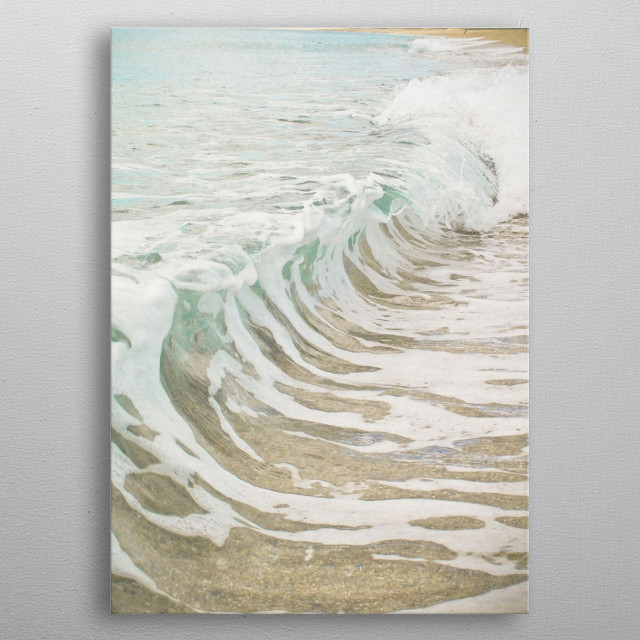 Beach photography by Cassia Beck. metal poster