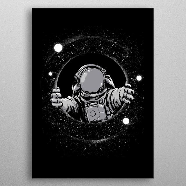 Black Hole metal poster