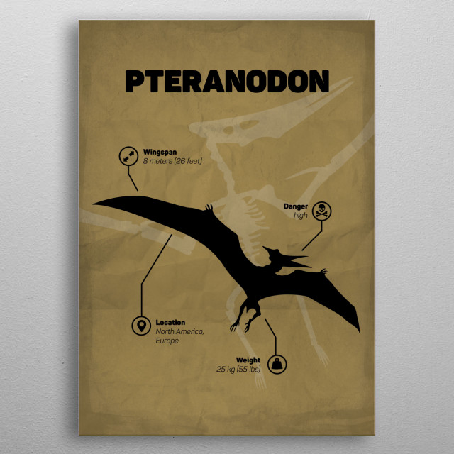 Pteranodon (inspired by Jurassic World) metal poster