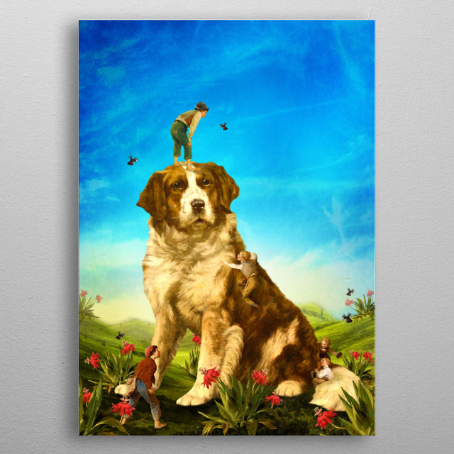 Our Giant Mascot metal poster
