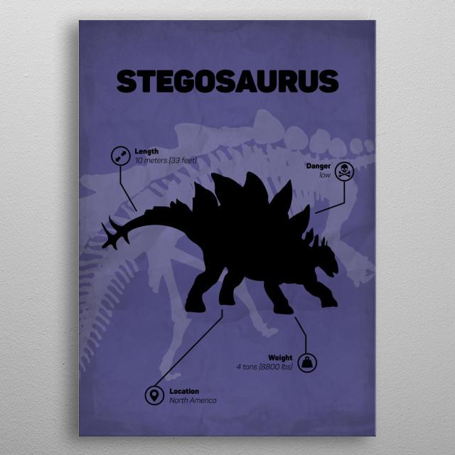 Stegosaurus (inspired by Jurassic World) metal poster