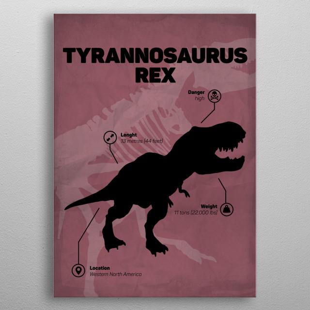 Tyrannosaurus Rex (inspired by Jurassic World) metal poster