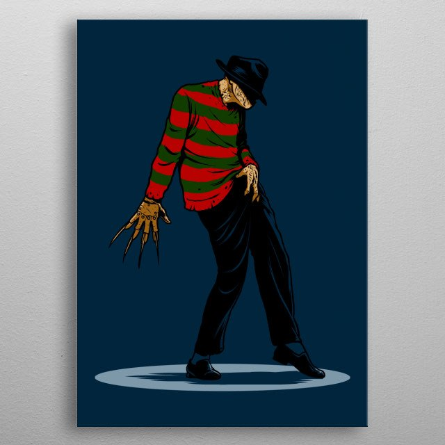 Freddy can dance  metal poster
