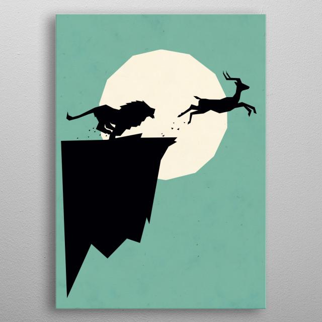 Take a leap! metal poster