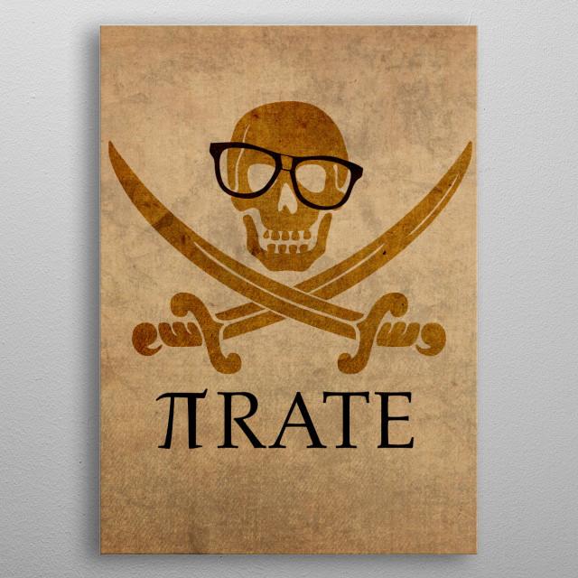 Pirate Math Humor metal poster