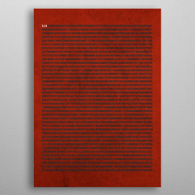 Digits of Pi metal poster