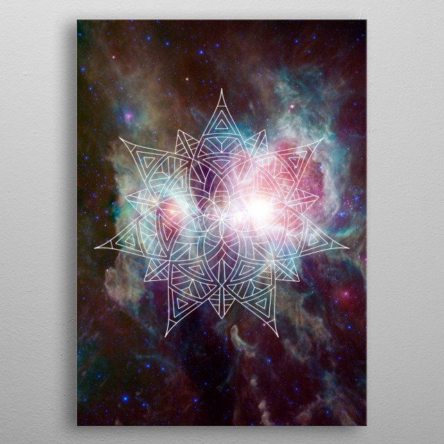 Center of The Universe metal poster