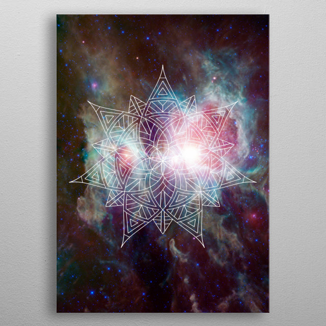 High-quality metal print from amazing Sailing The Galaxy collection will bring unique style to your space and will show off your personality. metal poster