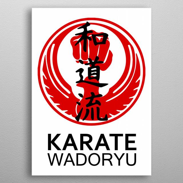Wadoryu Karate metal poster