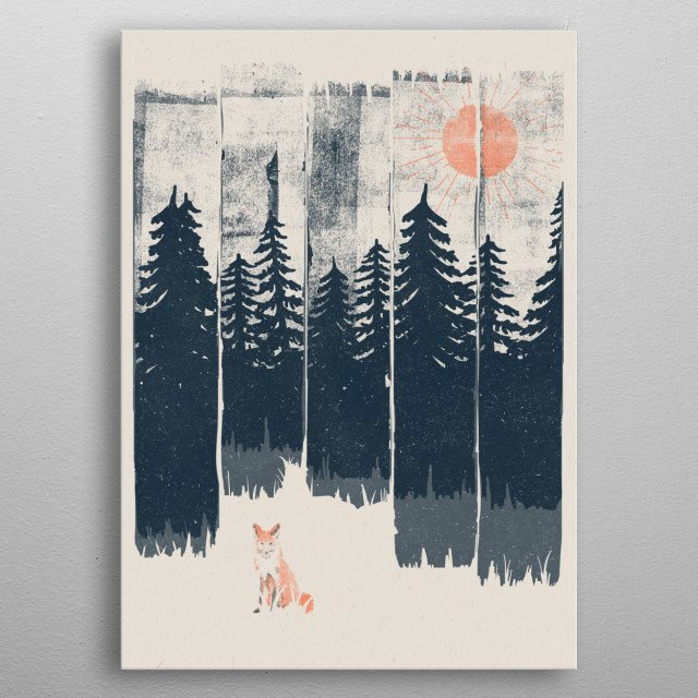 A Fox in the Wild... metal poster