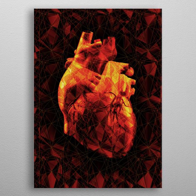 Geometric Heart metal poster