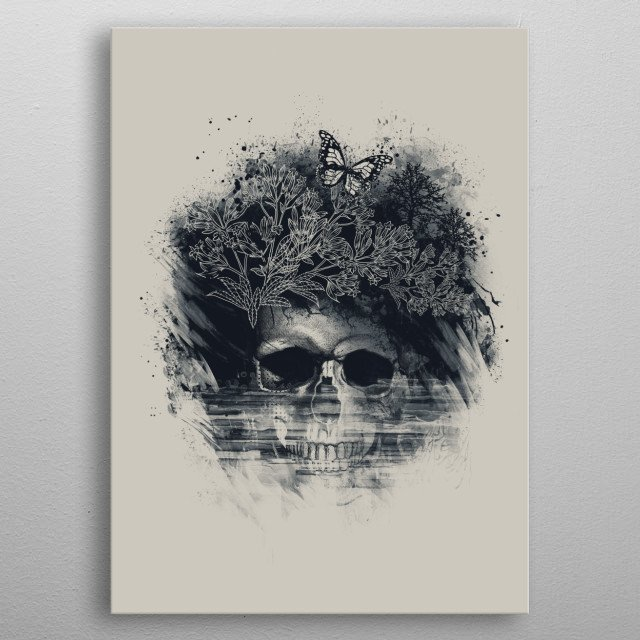 Faded Beauty metal poster