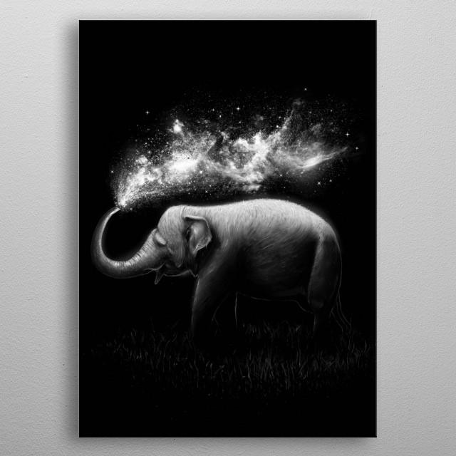 Elephant Splash metal poster