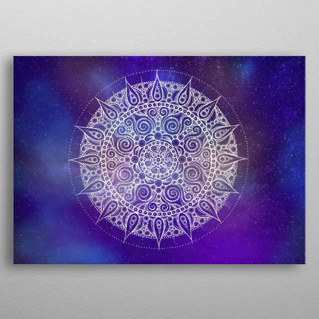 Space Mandala metal poster