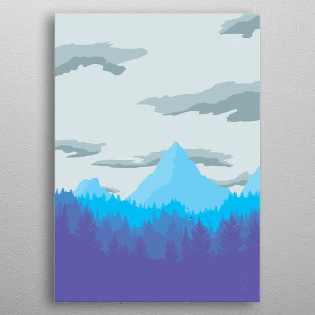Winter Mountain metal poster