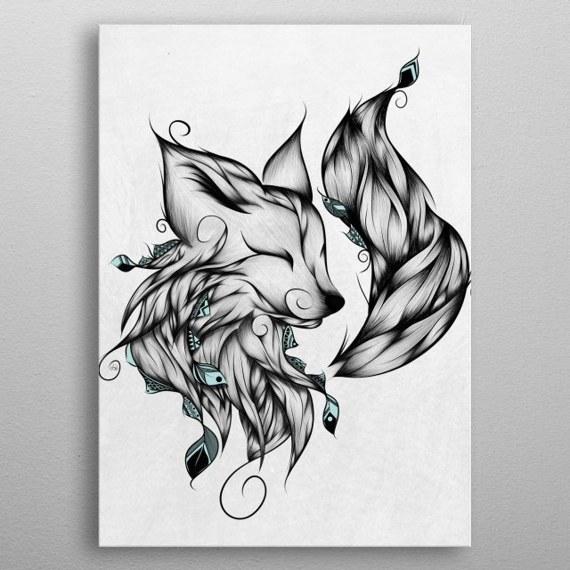 Fascinating metal poster designed by LouJah. Displate has a unique signature and hologram on the back to add authenticity to each design. metal poster