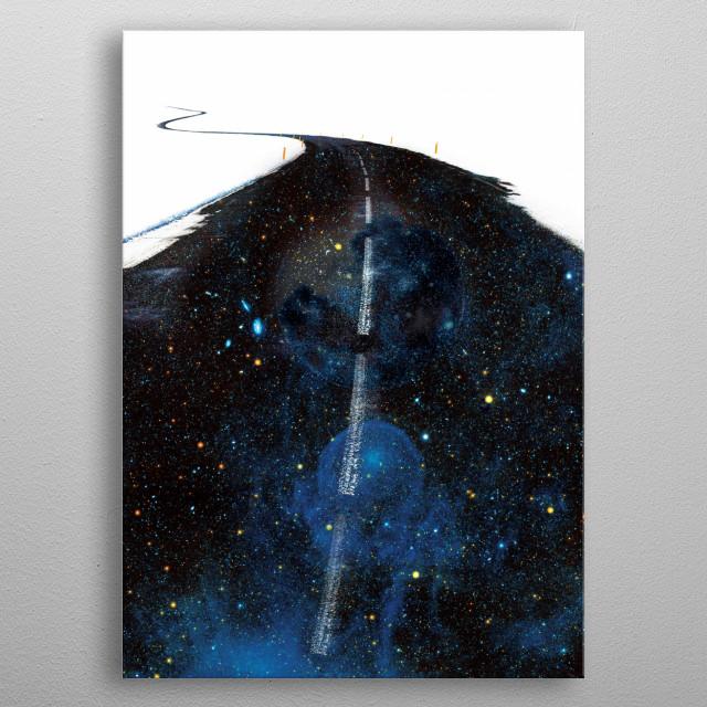Galaxy Road metal poster